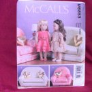 COUCH AND CHAIR PATTERN FOR AMERICAN GIRL 18 INCH DOLLS-McCALLS #M6853