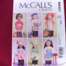 APRON AND COOKING SETS FOR AMERICAN GIRL 18 INCH DOLLS-McCALLS #M6451