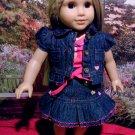 Dark Denim Skirt set for American Girl 18 inch dolls