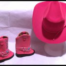 Red Western Boot Set for American Girl 18 inch dolls