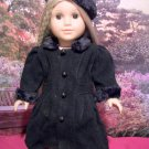 Black Victorian Style Coat for American Girl 18 inch dolls