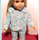 Blue Hello Kitty Pajamas for American Girl 18 inch dolls