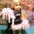 Pink and Black Cheer Leading set for American Girl 18 inch dolls