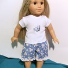 Daisies Shorts Set for American Girl 18 inch dolls*Made in USA