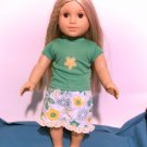 Green Shorts set for American Girl 18 inch dolls