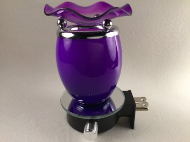 Electric Fragrance Glass Lamp Purple Nightlight e785