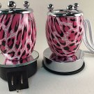 Electric Fragrance Glass Lamp Pink Nightlight Gift Set