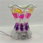 Electric Fragrance Glass Lamp Purple Nightlight e592