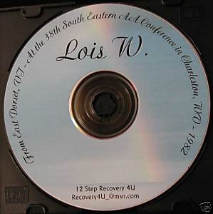 12 Step Recovery Talks Al-Anon Speaker CD - Lois W.