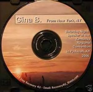 NA - Narcotics Anonymous 12 Step Speaker CD - Gina B
