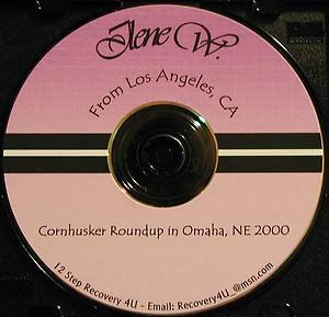 Ilene W. from Los Angeles CA sober since March 3 1975 Alcoholics Anonymous CD