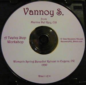 Vannoy S. * 12 Step Workshop * 4 CD set Al-Anon Speaker alanon recovery talk AFG