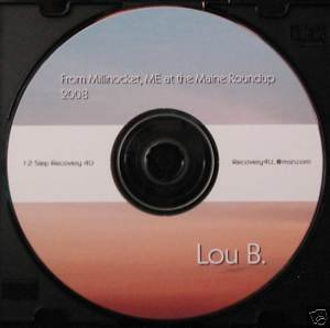 "Alcoholics Anonymous talk Speaker CD Lou B ""show girl"""