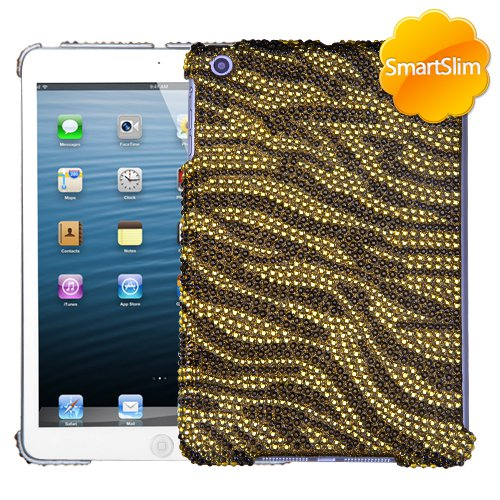 MYBAT Tiger Skin (Camel/Brown) Diamante SmartSlim Back Protector Cover