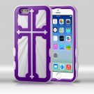 MYBAT Rubberized Grape/Solid White Cross Hybrid Protector Cover