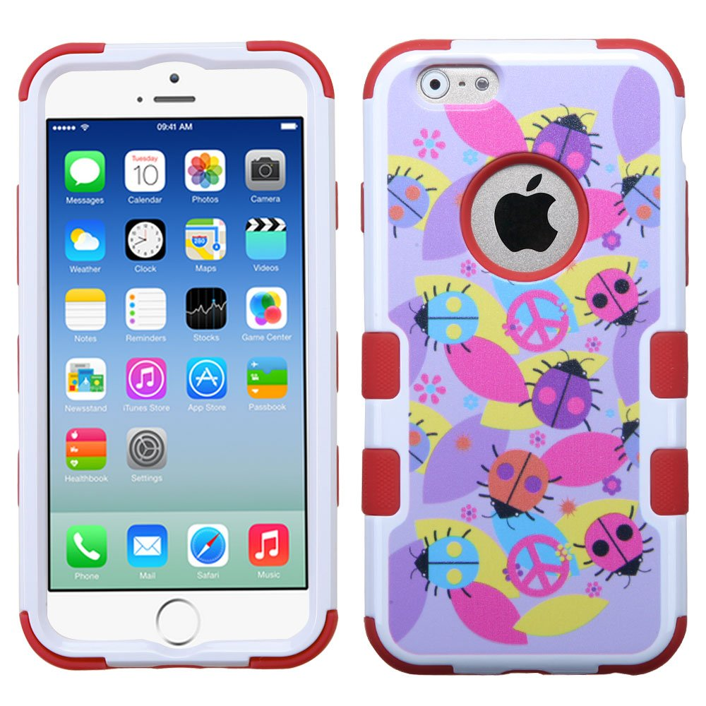 MYBAT Peace Ladybugs/Red TUFF Hybrid Phone Protector Cover