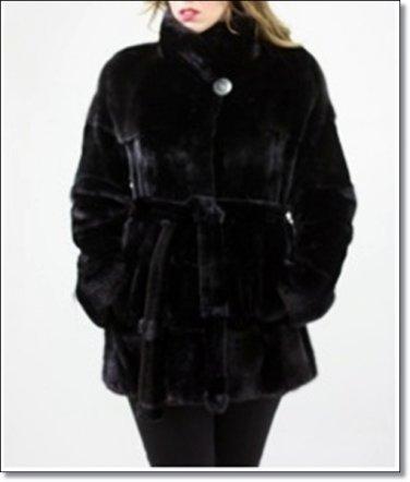 Ladies Short Length Norka Minkcoat Overall Winter Mink Fur Coat