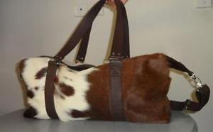 Cowhide Weekend Bag Cow Leather Hide Travel Case Cow Hide Business Duffle Bag