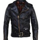 Mens Genuine Leather Motorcycle Jacket Men's Adjustable Best Jacket XS - 6XL