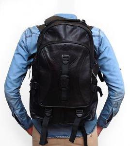 Brand New Leather Back Pack Mens Unisex Pure Leather Bag Pack Shoulder Satchel