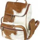 Large Cowhide Leather Backpack Shoulder Bag Travel Organizer Carry On Duffle Bag