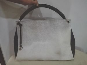 Cowhide Leather Large Shoulder Work Bag Cow Hide Carry-On Tote Purse