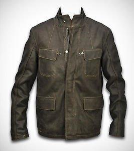 Blazer Style Coat Long Leather Cow Jacket for Men Custom Size XS - 6XL