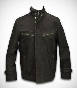 Leather Winter Coat Men's Cow Leather Jacket Detachable Vest/Collar