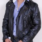 Stylish Motorcycle/Motorbike Leather Jacket Full Sleeve with Belt Adjust XS- 6XL