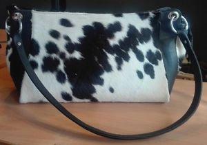 Cowhide Hair On Woman Purse Shoulder Hand Bag Cow Hide Fur Handbag Ladies Purse