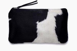 Women Genuine Cowhide Mini Purse Wallet Money Card Holder Cow hide Clutch 2 pcs