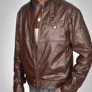 New 2016 Fashion Leather Jacket Fresh Design Men Cow Leather Coat/Jacket SALE