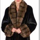 Full Length Mink Fur Coat Large Winter Snow Jacket Ladies Fox Mink Large Coat