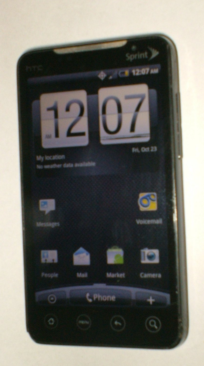 HTC EVO 4G (Sprint) Smartphone with charger