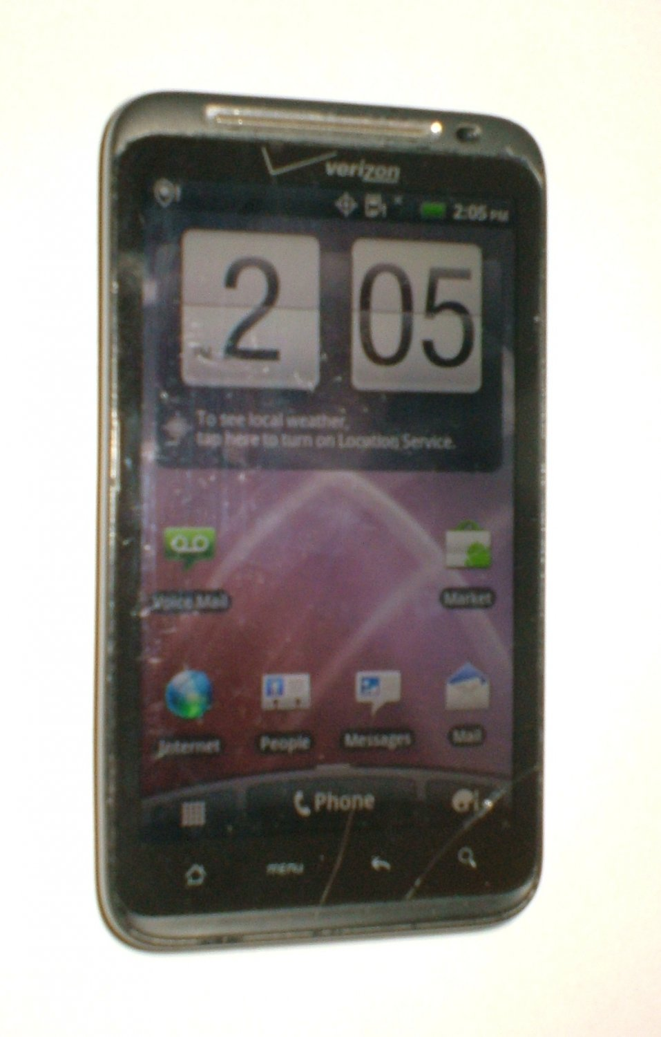 HTC Thunderbolt ADR6400 (Verizon) 4g Smartphone, with charger