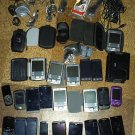 24 phones, and PDAs + cases, chargers etc