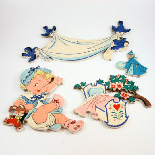 Pin-Ups Vintage 1950's Children's Mother Goose/Cinderella