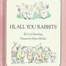 Vintage Children's Parents' Magazine Book - HI, ALL YOU RABBITS 1970