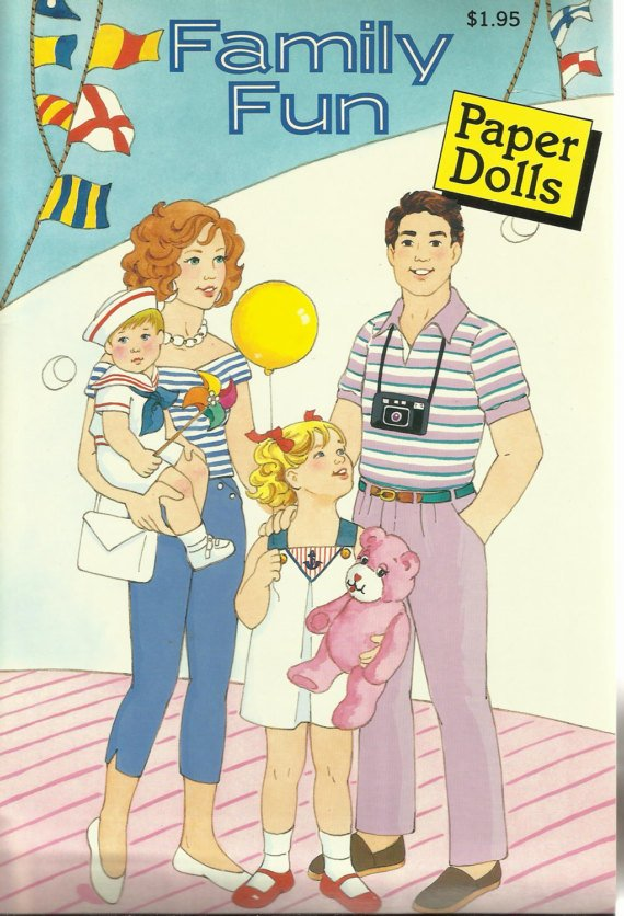 Family Fun Paper Dolls, 1989 Vintage Childrens Paper Doll Book