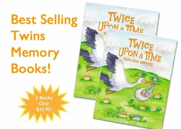 2 Baby Books Written Just For Twins - TWICE UOPN A TIME: TWINS MEMORY BOOKS 2007