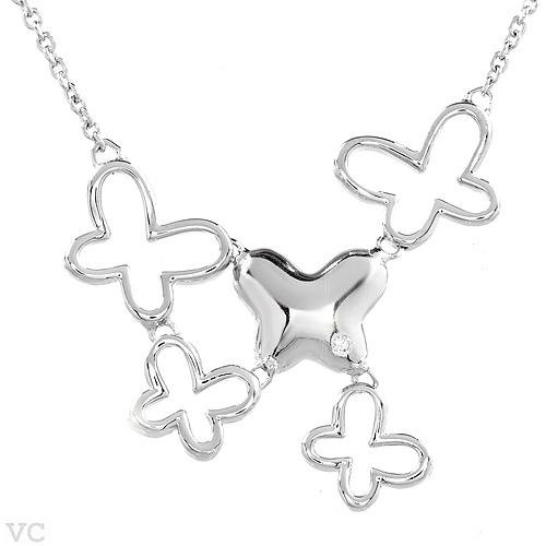 Majestic Butterfly Necklace in Sterling Silver 16.5 Inch