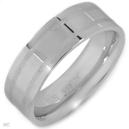 Stainless Steel Band Ring Size 5