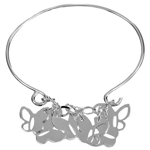Butterfly Charm Bracelet in Sterling Silver