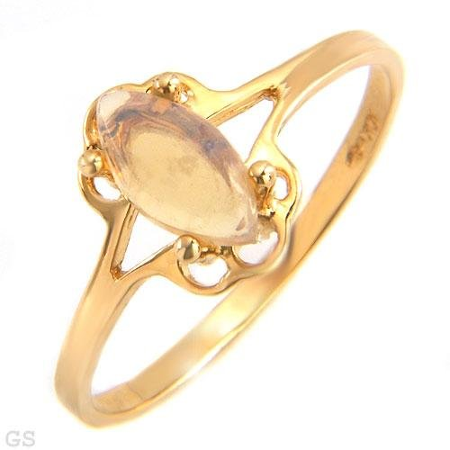 10 K Gold ring with Genuine Opal Size 7