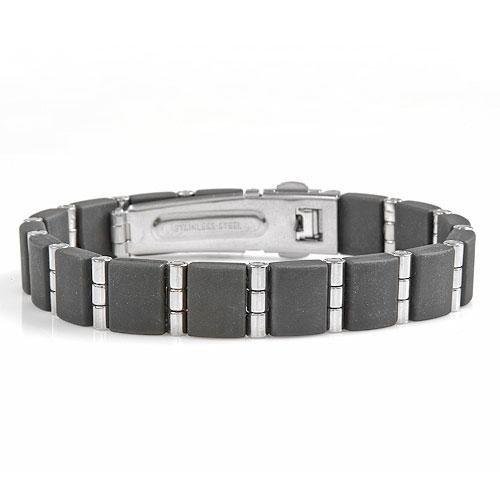 Men's Bracelet in Stainless Steel 7 inches