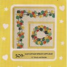 Nasturtium Wreath Applique by Curiosity