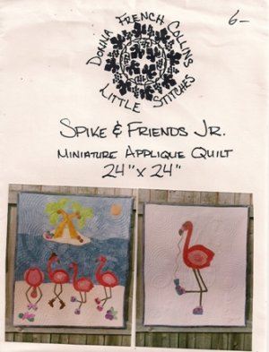 Spike & Friends Jr. Miniature Applique Quilt