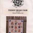 Teddy Bear Fair Miniature Applique Quilt Pattern