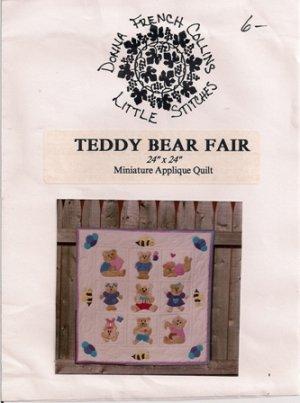 Teddy Bear Fair Miniature Applique Quilt Pattern