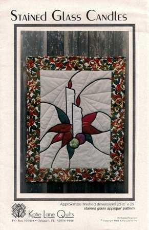 Stained Glass Candles by Katie Lane Quilts